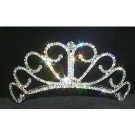 Rhinestone Jewelry Corporatrion Raised Princess Tiara - 2 inch