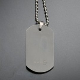 Rothco Silver Dog Tag And Chains