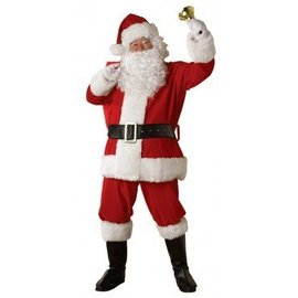 Rubies Costume Company Bright Plush Santa Suit - STD 40-48