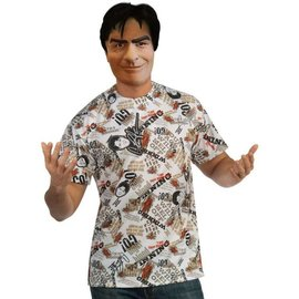 Rubies Costume Company Charlie Sheen Mask and Shirt - Adult Standard