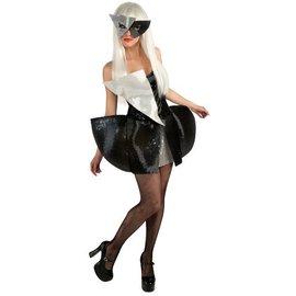 Rubies Costume Company Lady Gaga - Black Sequin Dress Extra Small