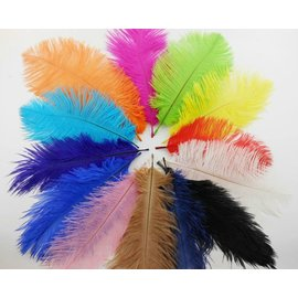 Feather Plume Lt Blue