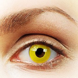 Fine And Clear Solid Yellow Contact Lenses