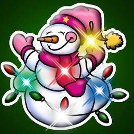 Snowman With Light Strand Flashing Pin