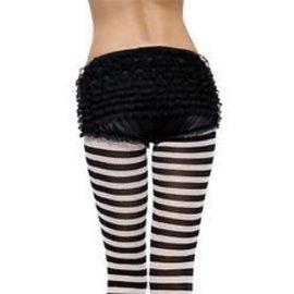 Leg Avenue Ruffle Back Rhumba Panty blk s/m