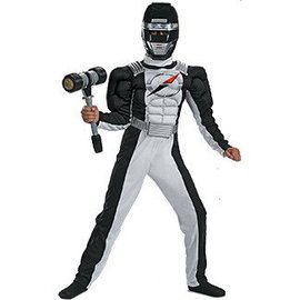 Disguise Power Ranger Black Overdrive, Child 10-12 (defect as is)