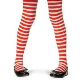 Leg Avenue Nylon Striped Stockings - Red/White