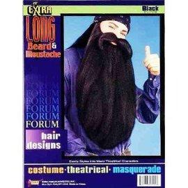 Forum Novelties Beard And Moustache 18 inch Black