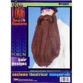 Forum Novelties Beard And Moustache 18 inch Brown