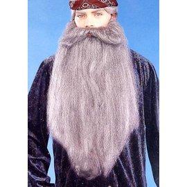Forum Novelties Beard And Moustache 18 inch Grey