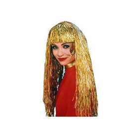 Forum Novelties Extra Long Tinsel Wig - Gold