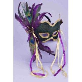Forum Novelties Green Masquerade Mask MJ-021