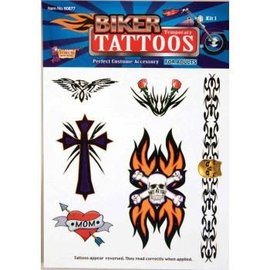Forum Novelties Biker Temporary Tattoos