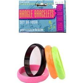 Forum Novelties 80s Bangles - 4  Bracelets (C4)