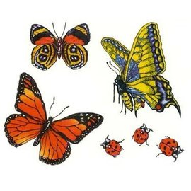 Johnson And Mayer Butterflies and Lady Bugs Temporary Tattoos