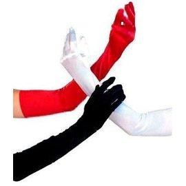 Beyco Gloves White Shoulder Length Satin
