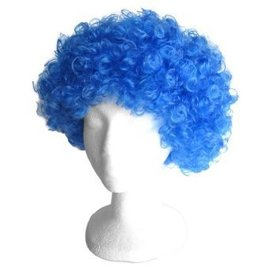 Lacey Costume Wig Afro Bargain, Blue - Wig