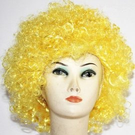 Lacey Costume Wig Afro Bargain, Yellow - Wig