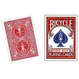 United States Playing Card Company Card - Bicycle Box, Old Style Empty - Red (M10)