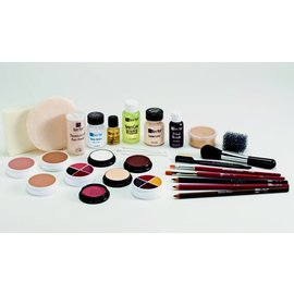 Ben Nye Creme Make Up Kit TK-6 Brown: Lt-Med (C3)