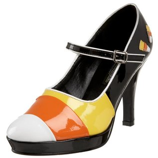 Pleaser USA Contessa Shoes-55 (Candy Corn) 8