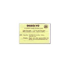 Dissolvo Dissolvo Paper - 4 Full sheets