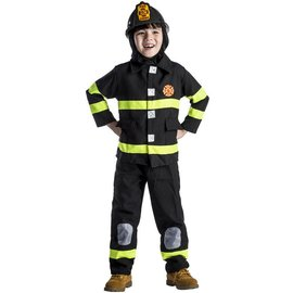 Dress Up America Tot/Child Deluxe Black Fire Fighter T4