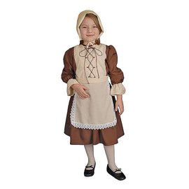 Dress Up America Colonial Girl - Child Size 4-6 DUA