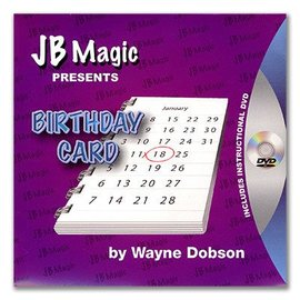 JB Magic Birthday Card by Wayne Dobson (M10)