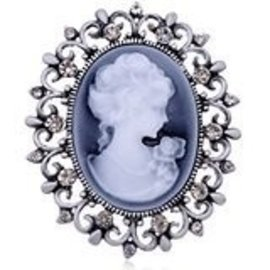 Center Stage Design Blue Cameo Pin (C13)