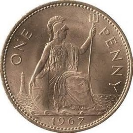 Royal Mint English Penny - Coin (M10)