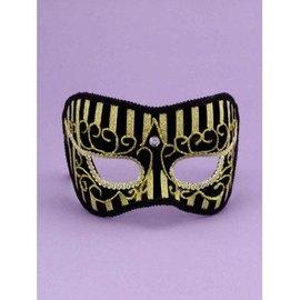 Forum Novelties Best Ever Half Mask with Gold Stripes