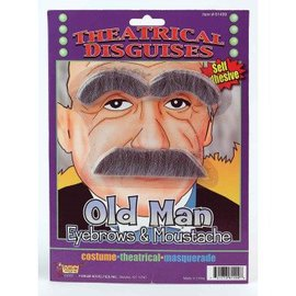 Forum Novelties Old Man Eyebrows And Moustache Theatrical Disguise