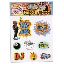 Forum Novelties Hip Hop Temporary Tattoos