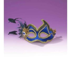Forum Novelties Fancy Half Mask - Blue