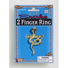 Forum Novelties Two Finger Snake Ring (C15)