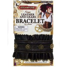 Forum Novelties Steampunk Leather And Gears Bracelet (C13)