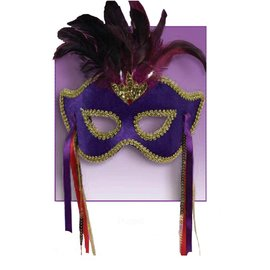 Forum Novelties Karneval Half Mask - Purple