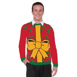 Forum Novelties Christmas Sweater, All Wrapped Up - XL 46-48