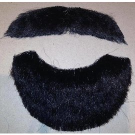 Costume Mates Beard And Moustache Human Hair Black