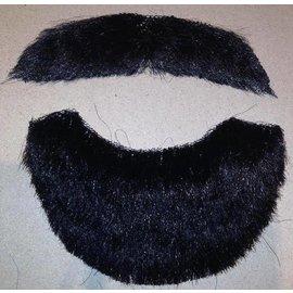 Costume Mates Beard And Moustache Human Hair Black