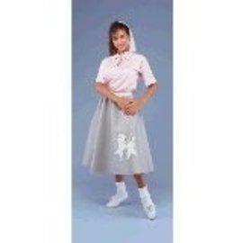 Peter Alan Inc. 50's Pink Poodle Skirt white dog design - Adult