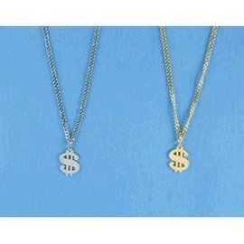 Peter Alan Inc. Silver Metal Dollar Sign Necklace (C4)
