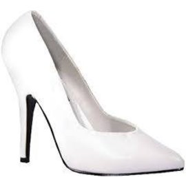 Ellie Shoes Shoes - Pumps 4 Inch Heel  White Size 7