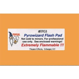 Theater Effects Pryrowizard Flash Pad #FP03 - 2x3 20 sheets