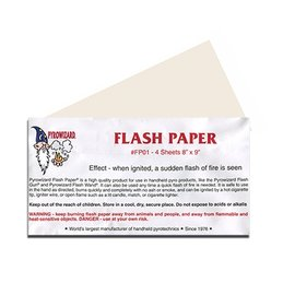 Theater Effects Flash Paper, White 4 Sheets 8.5 x 9 Inch - Theater Effects