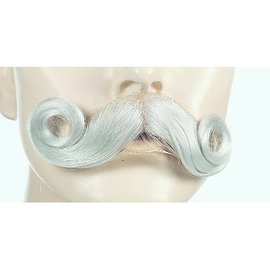 Lacey Costume Wig Moustache - 007, White