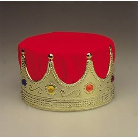 Jacobson Hat Company Crown King - Deluxe, Red/Gold