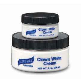 Graftobian Make-Up Company Clown White Cream 2.5 oz.