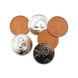 Jumbo Coin Plastic Assorted 3 inch - Coin (M10)